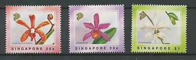 [K0083] Singapore 1991 flowers ORCHIDS good set very fine MNH stamps