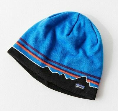620ea77cc0922 NWT  39 Patagonia Knit Beanie Hat Classic Fitz Roy Andes Blue - MENS    WOMENS