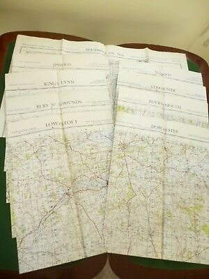 11 ordnance survey maps  war office editions published between 1948 & 1954