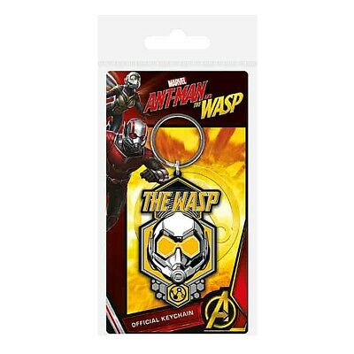 Genuine Marvel Comics The Wasp Helmet Rubber Keyring Key Fob Ant-Man & The Wasp