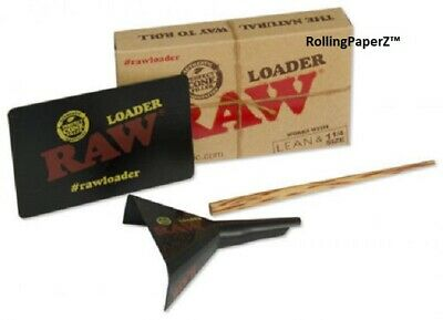 RAW 3 in 1 Loader- Scraping Card, Cone Loader, Bamboo Poker LEAN and 1 1/4 size