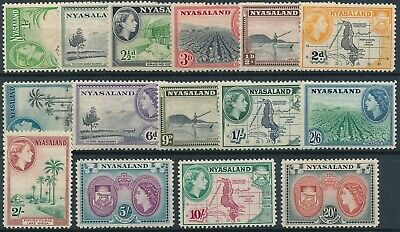 [E16613] Nyasaland 1953 good set of stamps very fine MNH