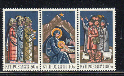 CYPRUS #375-377a  1971  CHRISTMAS      MINT  VF NH  O.G  S/3