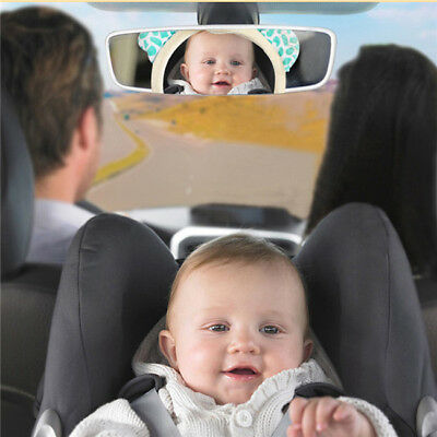 Baby Car Seat Rear View Mirror Facing Back Infant Kids Rattles Stroller Toy CB