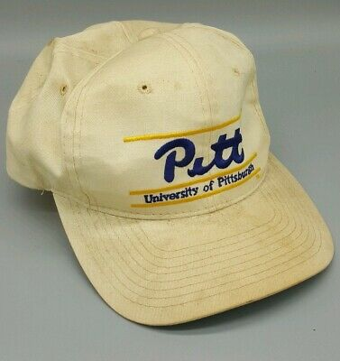 4e23ada1473f23 Vintage PITT PANTHERS The Game SNAPBACK HAT Triple Bar Glued Tag 90s  Pittsburgh