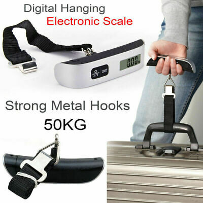 50kg/110lb Portable LCD Digital Hanging Luggage Scale Travel Electronic Weight