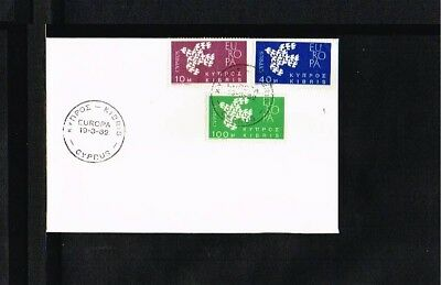 [P15_564] 1961 - Europe CEPT FDC Cyprus - issued 1962 (2)