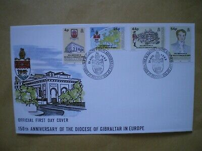 Gibraltar First Day Cover, 150Th Anniversary Of The Diocese Of Gibraltar 1992