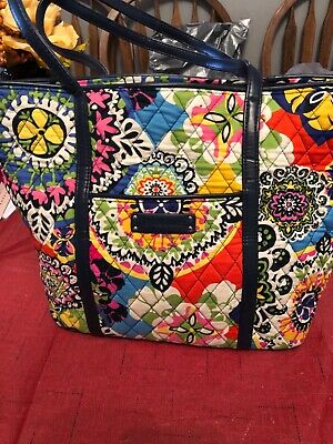 e100ef964b VERA BRADLEY SMALL Trimmed Vera Tote Bag IN PAISLEY IN PARADISE -NWT ...