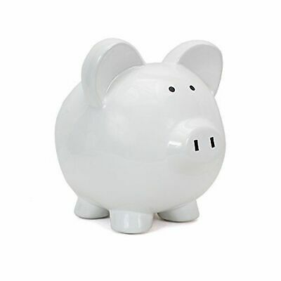 Child To Cherish Ceramic Piggy Bank WHITE Baby Product So Cute MUST HAVE