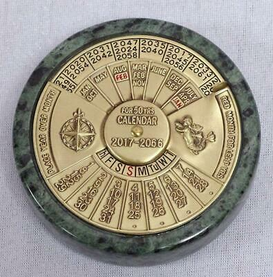 G553: 50 Year Old Calendar, Mechanical in Marinedesign, Brass Marble
