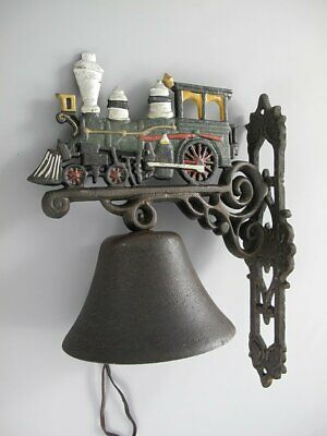 Door Bell, Wall Bell Railway, Steam, Cast Iron, Bell in Country House Style