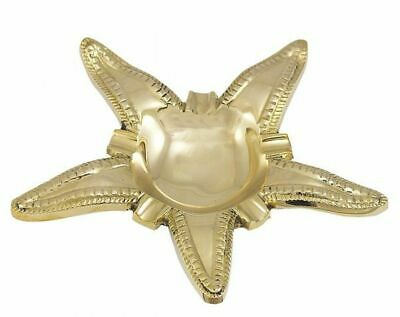 G4267: Maritime Ashtray, Starfish, Polished Brass
