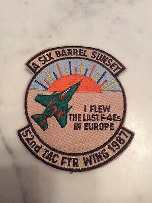 F-4 Phantom II Patch USAF US Air Force 52nd TAC FWR WING