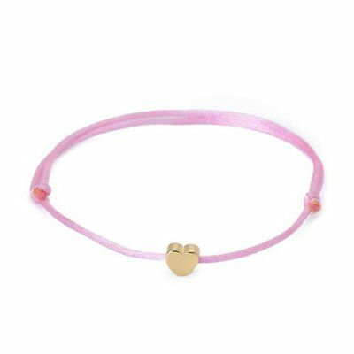 Pink Rope Heart Bracelet Adjustable Bangle Women Charm Simple Cuff Jewelry Gift
