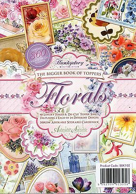 The Bigger Book Of Floral Toppers 48 Sheet Hunkydory Die-Cut Topper Paper Pad