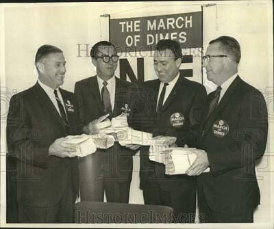 1967 Press Photo Four Leaders of March of Dimes Campaign of 1968 - noo42931