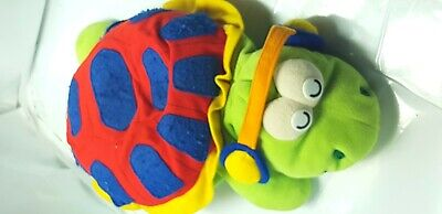 The green and red frog toy is very beautiful for children and also safe