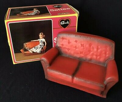 Vintage Sindy Settee, Pedigree, Mib, Made In United Kingdom