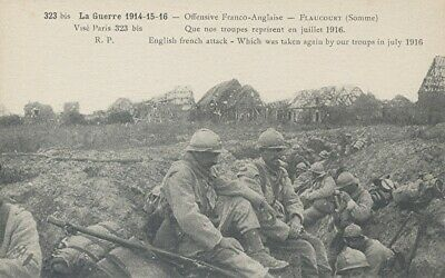 14-18 CPA Grande Guerre / Flaucourt/ Somme 1916 - Offensive Franco-Anglaise /TBE