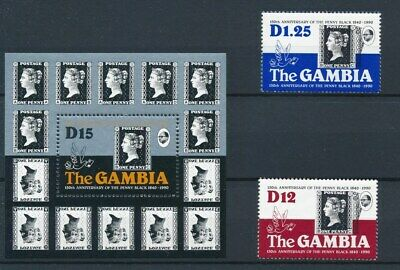 [70505] Gambia 1990 good set + sheet Very Fine MNH stamps