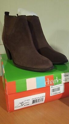418e5ab6c35f Charles by Charles David Women s Vaxio Ankle Suede Boot Dk Brown 8.5 M NEW  W