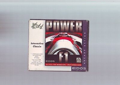 Power F1 - 1996 Formula One Pc Racing Game - Fast Post - Complete - Disc In Vgc