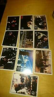 Batman Returns Topps Collection Cards Stickers #1 - 10