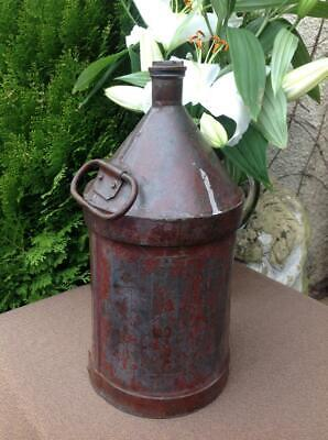 Vintage French Railway Oil Can 5.5Ltr WW2 1940's Classic Car Garage Rustic Chic