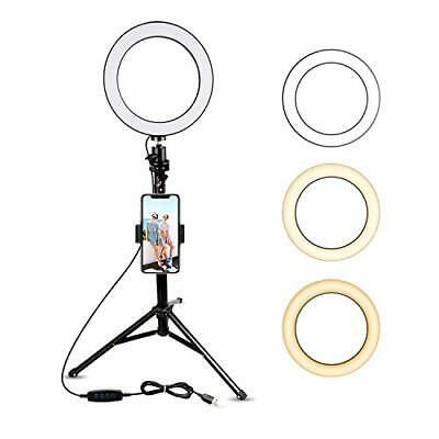 8 Selfie Ring Light with Tripod Stand & Cell Phone Holder for Live Stream Makeup