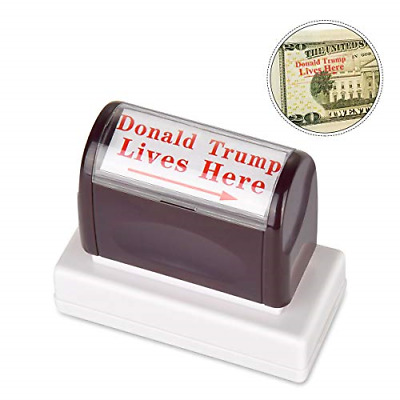 innissunny Donald Trump Lives Here Stamp,Self Inking Rubber Stamp with Red Ink