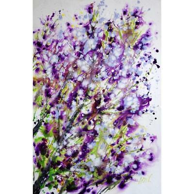 SPRING LILAC Bloom Flowers Abstract Painting Tree Landscape Large Original