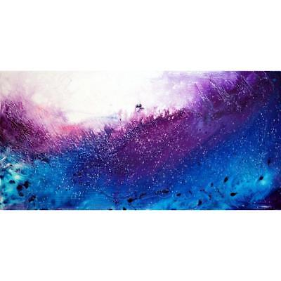 Purple Blue White Abstract Painting The WAVES Large ORIGINAL Direct from Artist