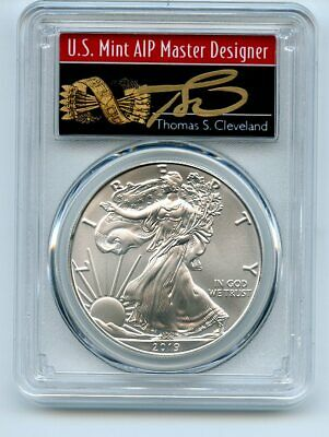 2019 $1 American Silver Eagle 1oz PCGS MS70 FS 1 of 1000 Thomas Cleveland Arrows