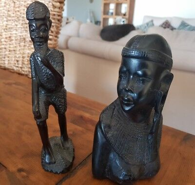 Set of 2 African Carvings
