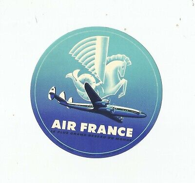 Vintage Airline Luggage Decal:  Air France