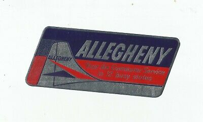Vintage Airline Luggage Decal:  Allegheny Airlines-Your Air Commuter Service