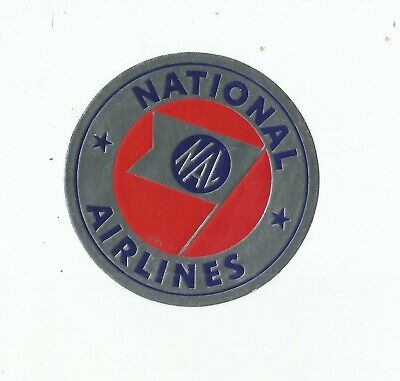 Vintage Airline Luggage Decal:  National Airlines