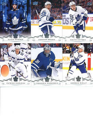 2018-19 Upper Deck Hockey Complete Toronto Maple Leafs Team Set of 11 Cards