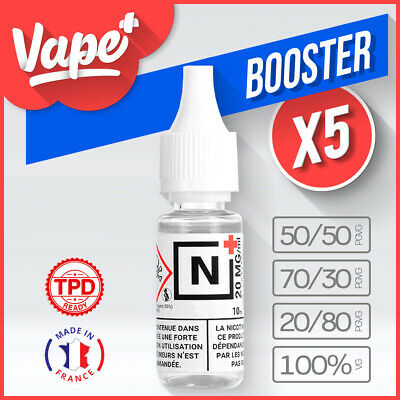 ★★ Pack 5 Booster De Nicotine 20 Mg 10 Ml Diy ★★