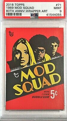 2018 Topps 80th Anniversary Wrapper Art 1969 Mod Squad #71 PSA 9 Mint /214