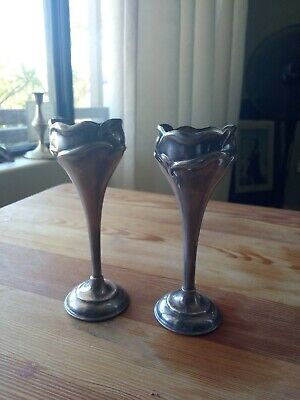 Pair of Bud Vace antique Silver EPSN 1950s