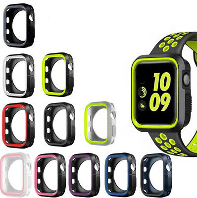 Sport Silicone Protective Case For Apple Watch 1/2/3 Series iWatch Cover 38/42mm