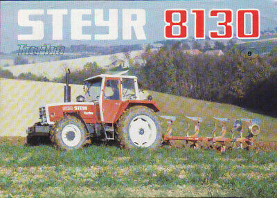 Steyr 768 and 768a Tractor Brochure Leaflet