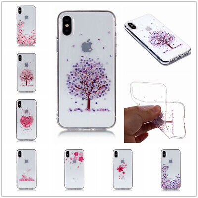 Pink Color Series Transparent TPU Phone Case For iPhone 5C 6 7 8 X XR XS Touch