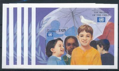 [122114] Gambia 1999 good sheets (5) very fine MNH