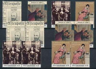 [122149] Denmark 2000 good sets (3) of stamps very fine MNH