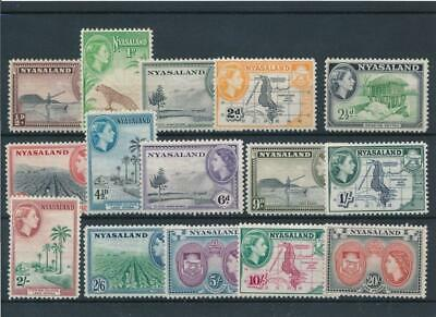 [5765] Nyasaland 1953 good set very fine MH stamps value $70