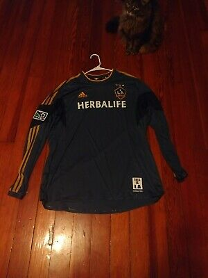 release date: a0ad4 70e68 ADIDAS LA GALAXY Long Sleeve Jersey Size 2xl MLS Sewn Patches great  condition