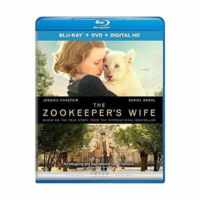 The Zookeeper's Wife (Blu-ray + DVD + Digital HD),Acceptable DVD, ,